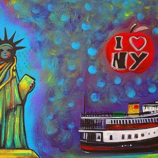 Art: I Love NY by Artist Laura Barbosa