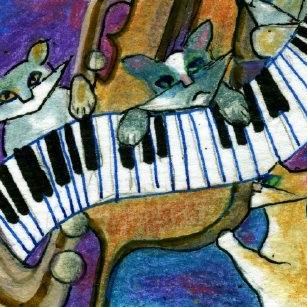 Art: All Cats are Grey in the Dark or (A Little Night Music) SOLD by Artist Judith A Brody