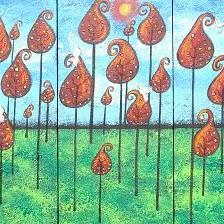 Art: Enchanted Red Forest by Artist Juli Cady Ryan