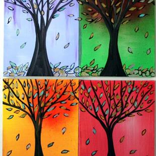 Art: FOUR SEASONS by Artist LUIZA VIZOLI