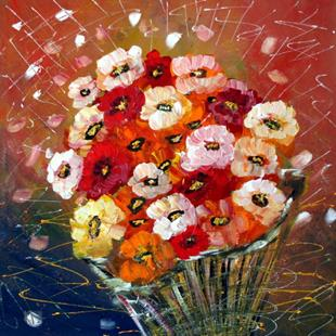 Art: SPRING FLOWERS BOUQUET  by Artist LUIZA VIZOLI