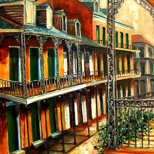 Art: Daybreak on St. Ann Street - SOLD by Artist Diane Millsap