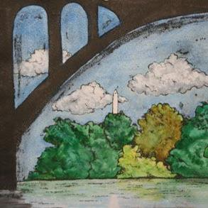 Art: Key Bridge by Artist Victoria Sonstegard, PhD