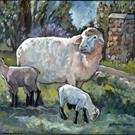 Art: Wheeler's Sheep by Artist Catherine Darling Hostetter