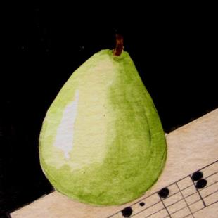 Art: PEAR by Artist Cyra R. Cancel