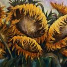 Art: Sunflowers by Artist Michael A Lang