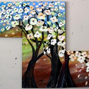 Art: FLOWERING APPLE TREES by Artist LUIZA VIZOLI