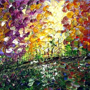 Art: COLORFUL TREES by Artist LUIZA VIZOLI