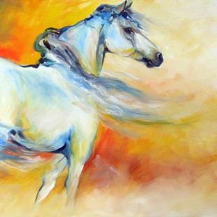 Art: INTO THE SUNSET WILD by Artist Marcia Baldwin