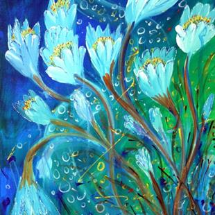 Art: WATER FLOWERS by Artist LUIZA VIZOLI