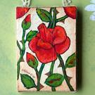 Art: Vintage Style Red Roses Painting by Artist Lisa M. Nelson
