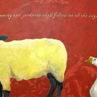 Art: Mercy and Goodness by Artist Catherine Darling Hostetter