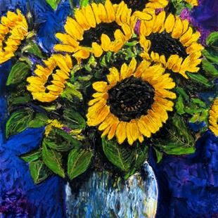 Art: Sunflowers by Artist Lisa Thornton Whittaker