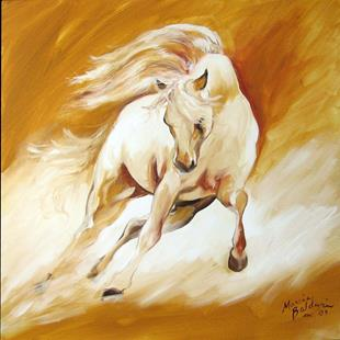Art: GOLDEN WIND by Artist Marcia Baldwin