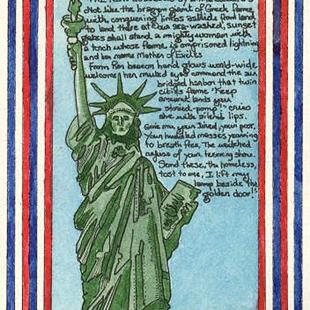 Art: The Statue of Liberty by Artist Theodora Demetriades