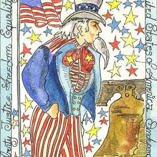 Art: Uncle Sam by Artist Theodora Demetriades