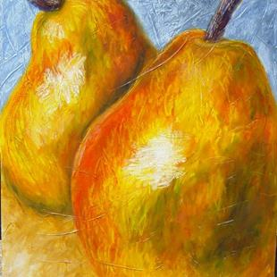 Art: Giant Pear Pair by Artist Tracey Allyn Greene
