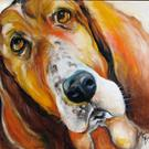Art: I DIDN'T DO IT BASSETT by Artist Marcia Baldwin