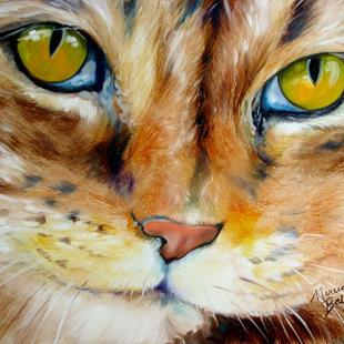 Art: CAT EYE FELINE by Artist Marcia Baldwin