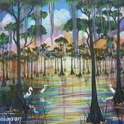 Art: FLORIDA SWAMP BIRDS by Artist Ke Robinson