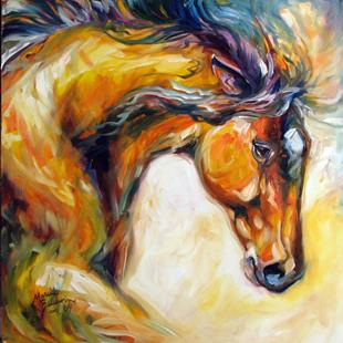 Art: DETERMINATION ~ EQUINE ART by M BALDWIN by Artist Marcia Baldwin