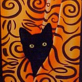 Art: MISS PRISS the BATHTUB CAT by Artist Rosemary Margaret Daunis