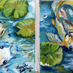Art: MINI KOI 1 & 2 by Artist Marcia Baldwin