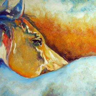 Art: ONE with the WEST ~ EQUINE ART by M BALDWIN by Artist Marcia Baldwin
