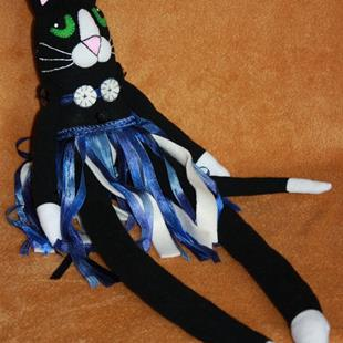 Art: S. Olga's Sock Kitty by Artist Tina Marie Ferguson