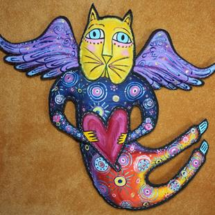 Art: Beth's Cat Fancy Angel by Artist Tina Marie Ferguson