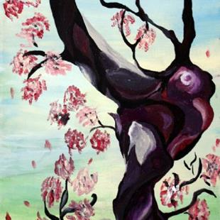 Art: ASIAN BLOSSOM by Artist LUIZA VIZOLI