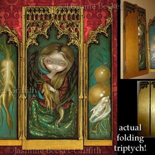 Art: Mandragora Triptych by Artist Jasmine Ann Becket-Griffith