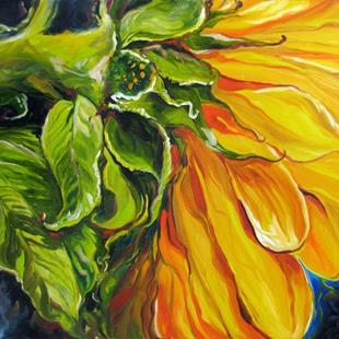Art: SUNFLOWER SUN PETALS by Artist Marcia Baldwin