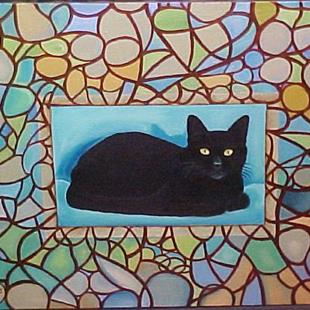 Art: ABSTRACT CAT by Artist Rosemary Margaret Daunis