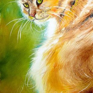 Art: SUNLIT KITTY ~ SWEET KITTY SERIES by Artist Marcia Baldwin