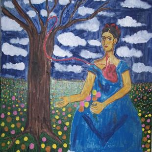 Art: Frida and the Tree by Artist Nancy Denommee