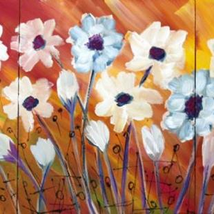 Art: SUMMER FLOWERS by Artist LUIZA VIZOLI
