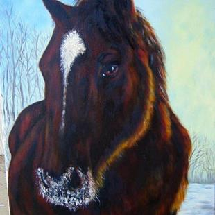 Art: Bucko's Snowfall by Artist Tracey Allyn Greene