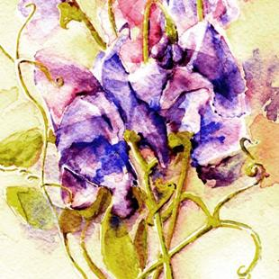 Art: Sweet Peas - private collection by Artist victoria kloch