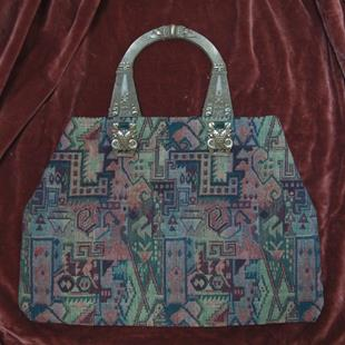 Art: Neo Egyptian Deco Bag by Artist Lauren Cole Abrams