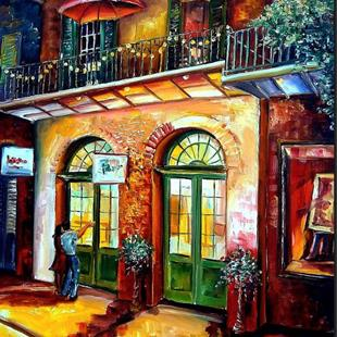Art: That French Quarter Glow - SOLD by Artist Diane Millsap