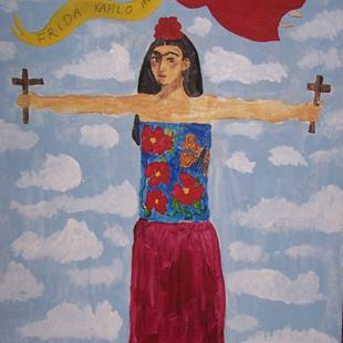 Art: Frida in the Clouds by Artist Nancy Denommee