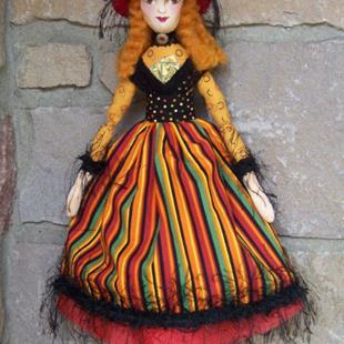 Art: Tarot Card Witch Art Doll by Artist Lisa M. Nelson
