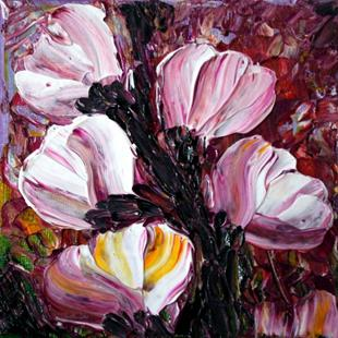Art: SWEET MAGNOLIA FLOWERS by Artist LUIZA VIZOLI
