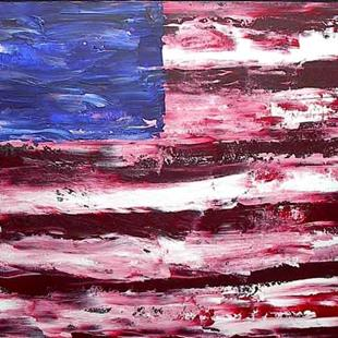 Art: American Flag #3 by Artist PJ Gorman