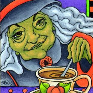 Art: Witch's Brew (sold) by Artist Shelly Bedsaul