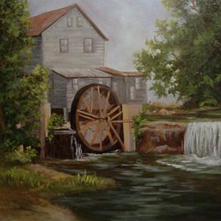 Art: Grist Mill in Tennessee by Artist Barbara Haviland