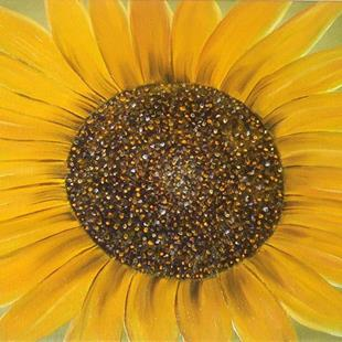 Art: HEAVENLY SUNFLOWER by Artist Christa Jule Art