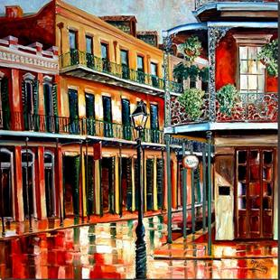 Art: Rainy Day in the Quarter - SOLD by Artist Diane Millsap