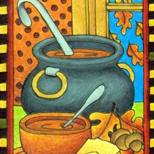 Art: Beans & Cornbread (sold) by Artist Shelly Bedsaul